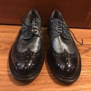 Robert Clergerie cousu goodyear oxfords sequin